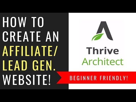 How To Build an Affiliate Marketing Website w/ Thrive Themes