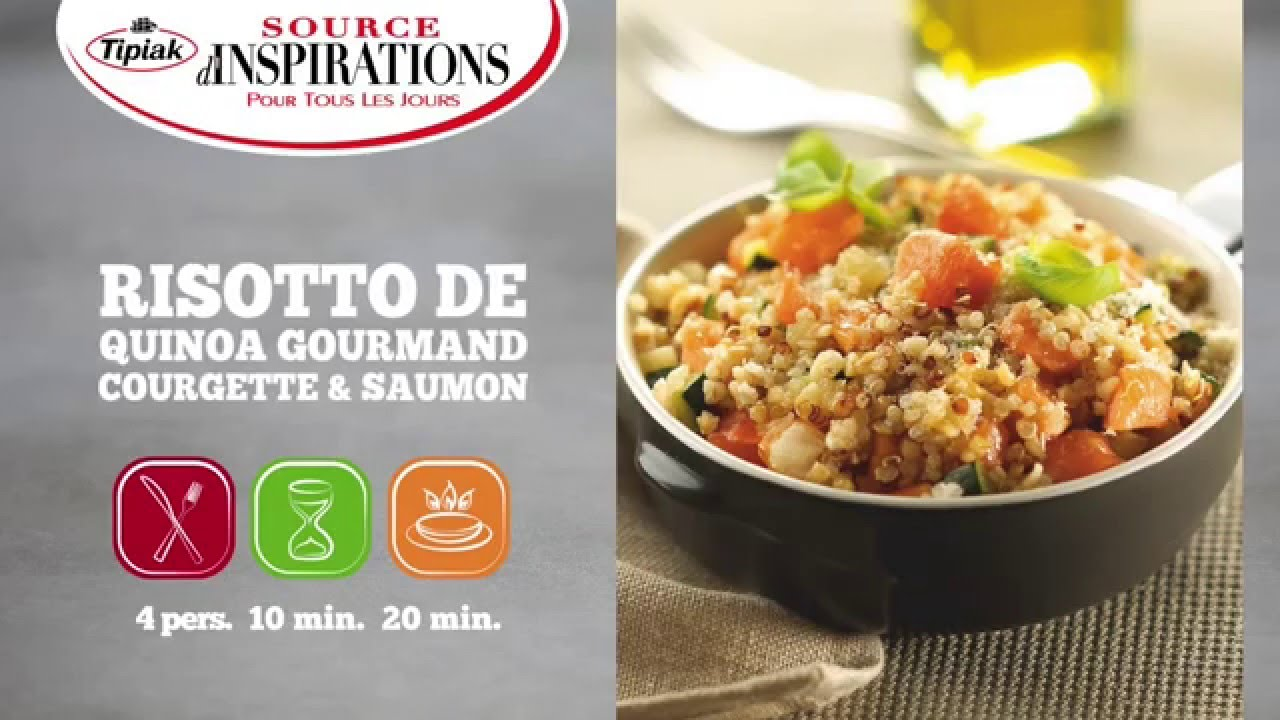 recette risotto de quinoa gourmand courgette et saumon. Black Bedroom Furniture Sets. Home Design Ideas