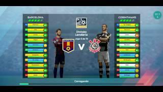 Corinthians  Vs Barcelona  divisão lendaria gameplay dream league soccer 2020