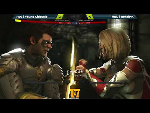 Injustice 2 - PEG | Young Chicuelo (Robin)  Vs MBD | RonalMK (SuperGirl) - FT10