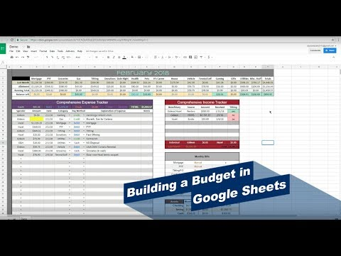 How To Make A Budget In Google Sheets (pt 1)