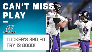 Redemption! Justin Tucker Hits FG After Double Doink