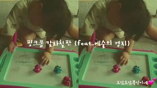 핑크퐁 칼라칠판 이 아기가 그림 그리는 방법