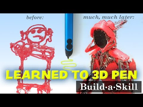 I spent 51 hours learning to use a 3D pen. Progress from beginner to 3D pen robot!