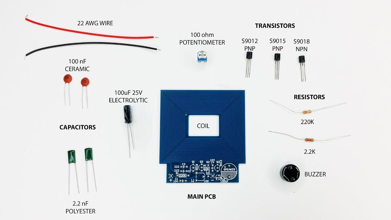 Diy Metal Detector Kit Build Soldering And Setup Guide Youtube