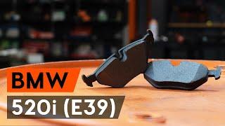 Montavimas Stabdžių Kaladėlės BMW 5 (E39): nemokamas video