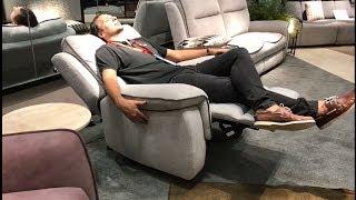 Диван и кресло Реджоне с реклайнерами в видео обзоре от Бенцони