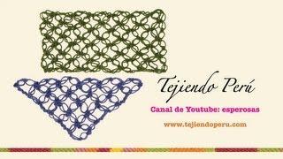 Nudo salomón en crochet (tejido recto y en triángulo) - Tejiendo Perú