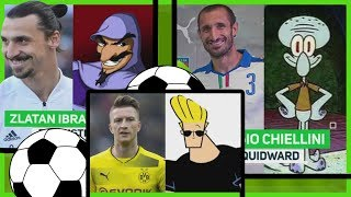 FOOTBALL PLAYERS that LOOK LIKE CARTOON CHARACTERS /// Fudbaleri koji liče na likove iz crtaća
