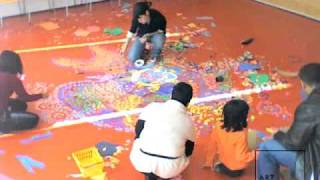 Rangoli created at Art Institute of Chicago for Diwali