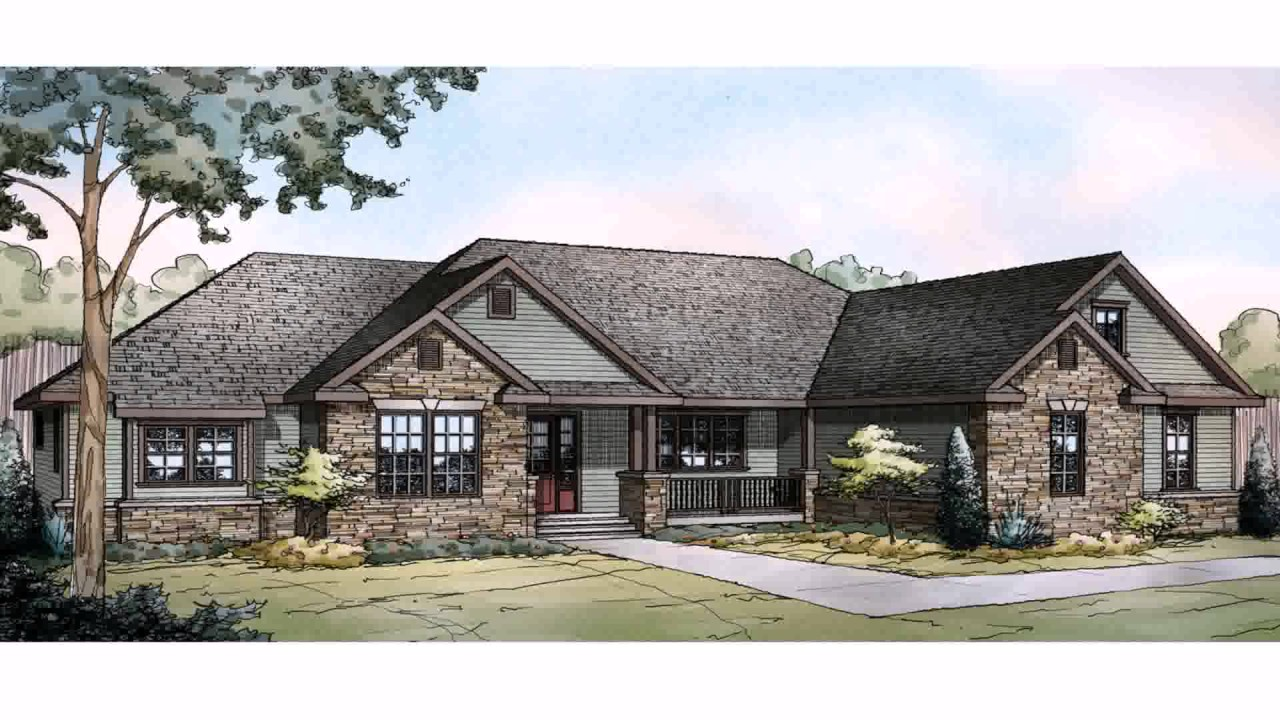House Designs Ranch Style Homes - YouTube