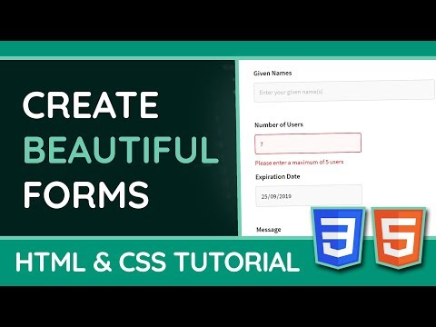 Styling HTML forms with CSS - Web Design/UX Tutorial thumbnail