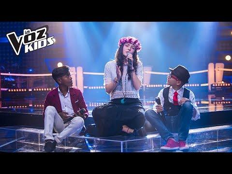 Brayan, Mariana y Yoryi cantan La Quiero a Morir – Batallas | La Voz Kids Colombia 2018
