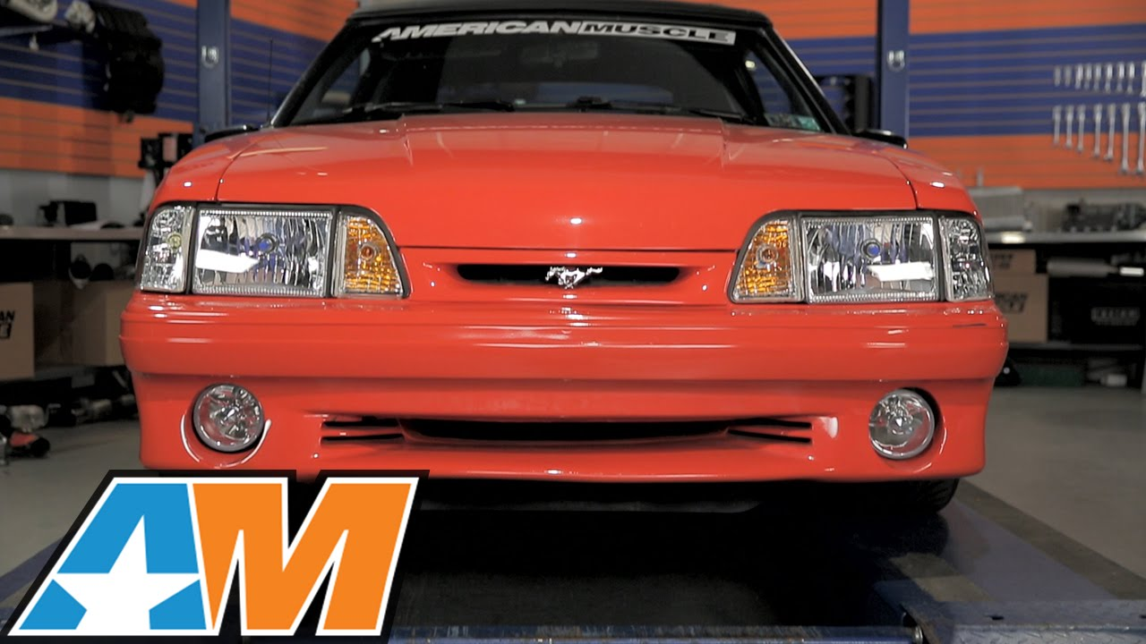 1987 1993 Mustang Ultra Clear Headlights Review Install Youtube