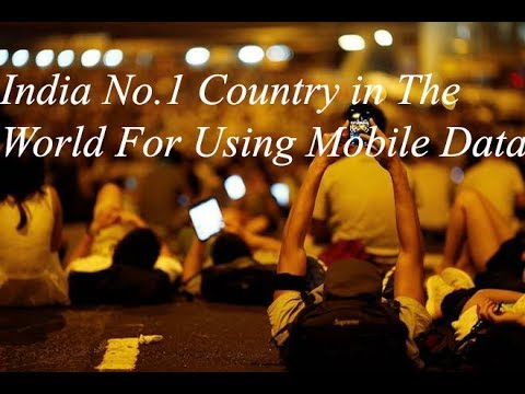 India No.1 Country in The World For Using Mobile Data