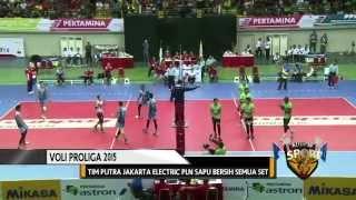 Tim Putra dan Putri Jakarta Electric PLN Juarai Voli Proliga 2015