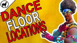 Fortnite Dance Floor Locations | Dance on Different Dance Floors Challenge | Battle Pass Week 8
