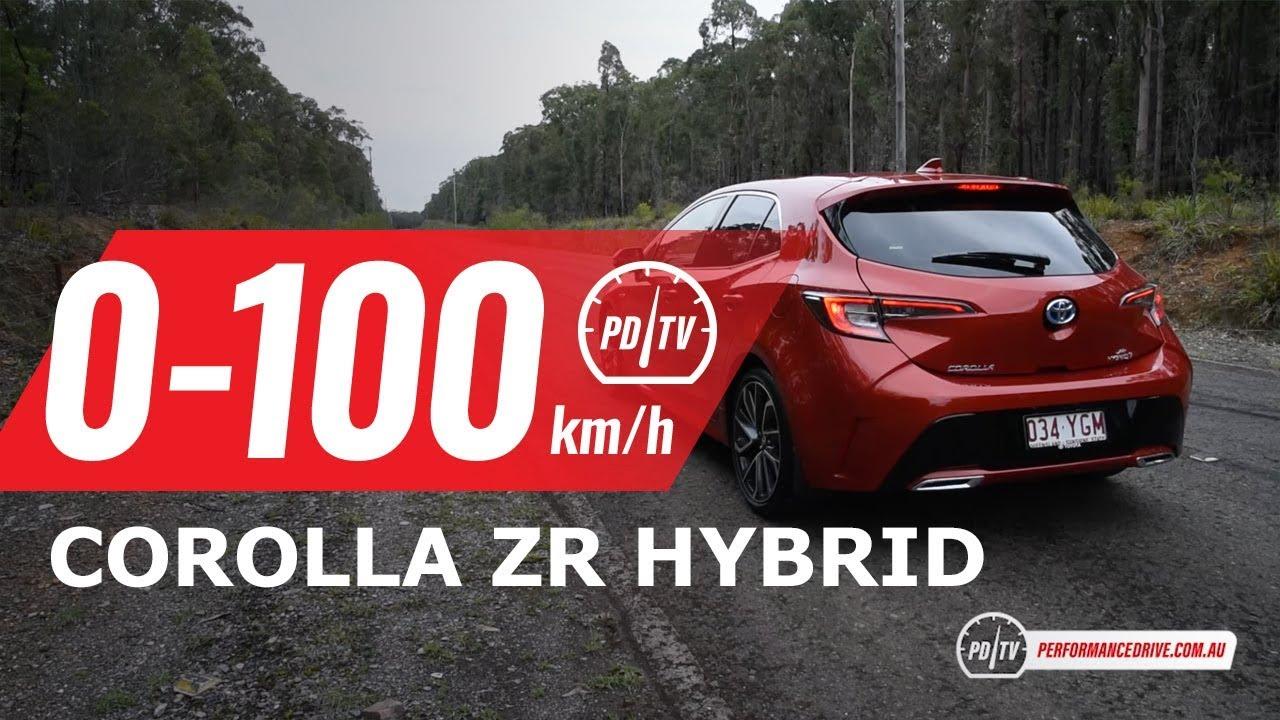 2019 Toyota Corolla Zr Hybrid 0 100km H Engine Sound Youtube