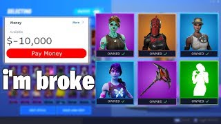 I bought the ENTIRE Item Shop Everytime I Died... - Fortnite