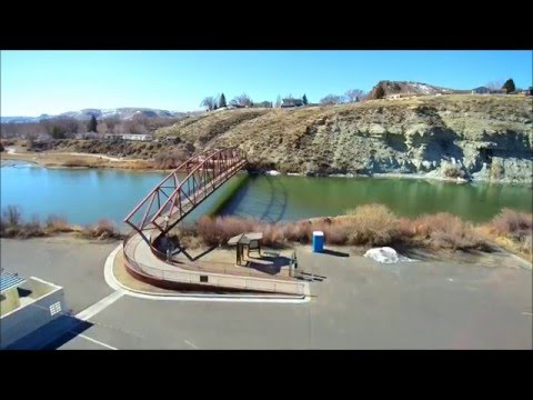 Drone View around Green River, Wyoming HD