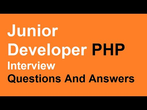 Junior Developer PHP Interview Questions And Answers