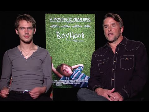Richard Linklater and Ellar Coltrane   Boyhood 2014 HD