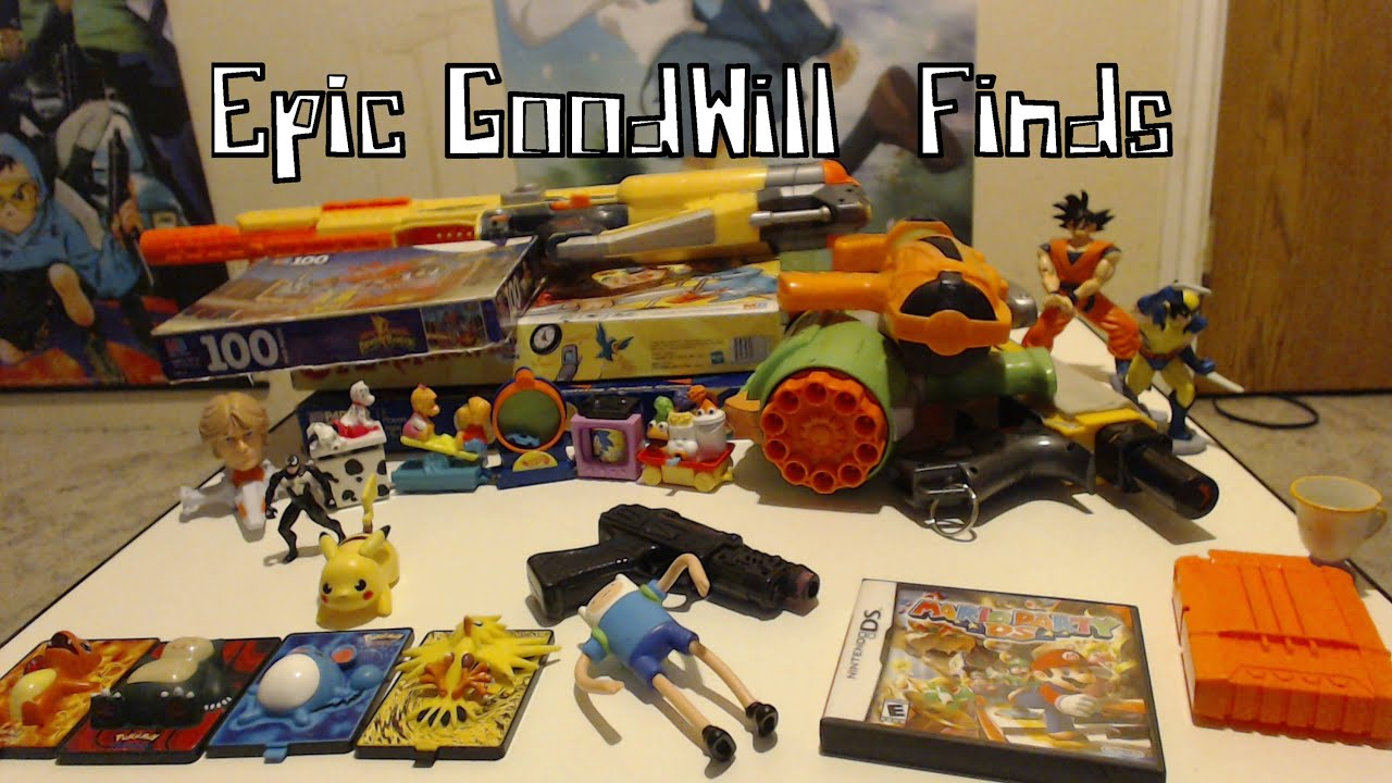Epic Goodwill Finds Nerf Pokemon Power Rangers and much more