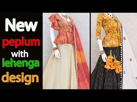 Most simple and beautiful lehenga with peplum designs | Lehenga choli designs