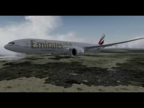 PrePar3D PMDG B773 Emirates783 Approach and Landing Runway18R Lagos Nigeria