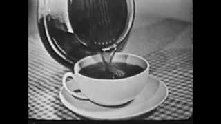 VINTAGE 1953 MAXWELL HOUSE COFFEE - GOOD TO THE LAST DROP (EVEN WITH A CIGARETTE FLOATING IN IT?)