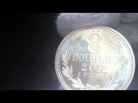 Guernsey Eight Double Silver Coin WATCH IN HD