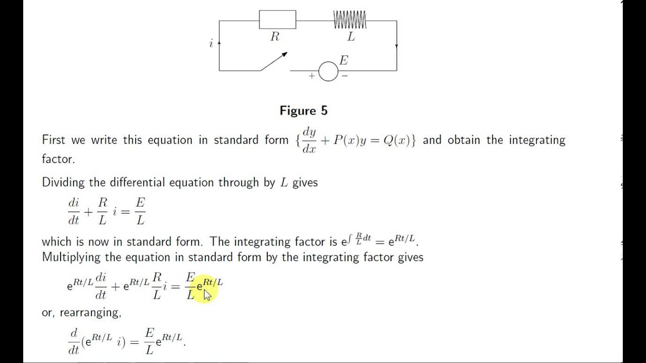 Rl series circuit differential equation : Great india place