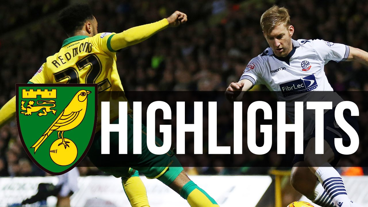 Highlights Norwich City 2 1 Bolton Youtube