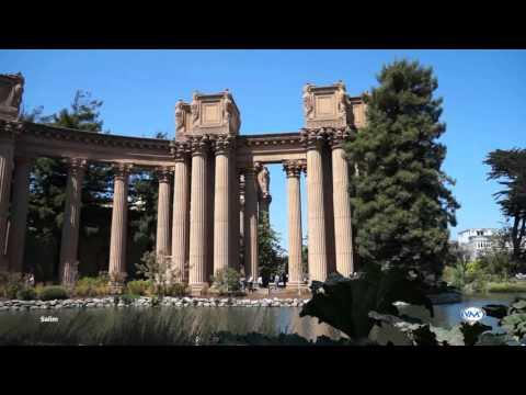 El monumental Palacio de Bellas Artes, Palace of Fine Arts San Francisco, California.