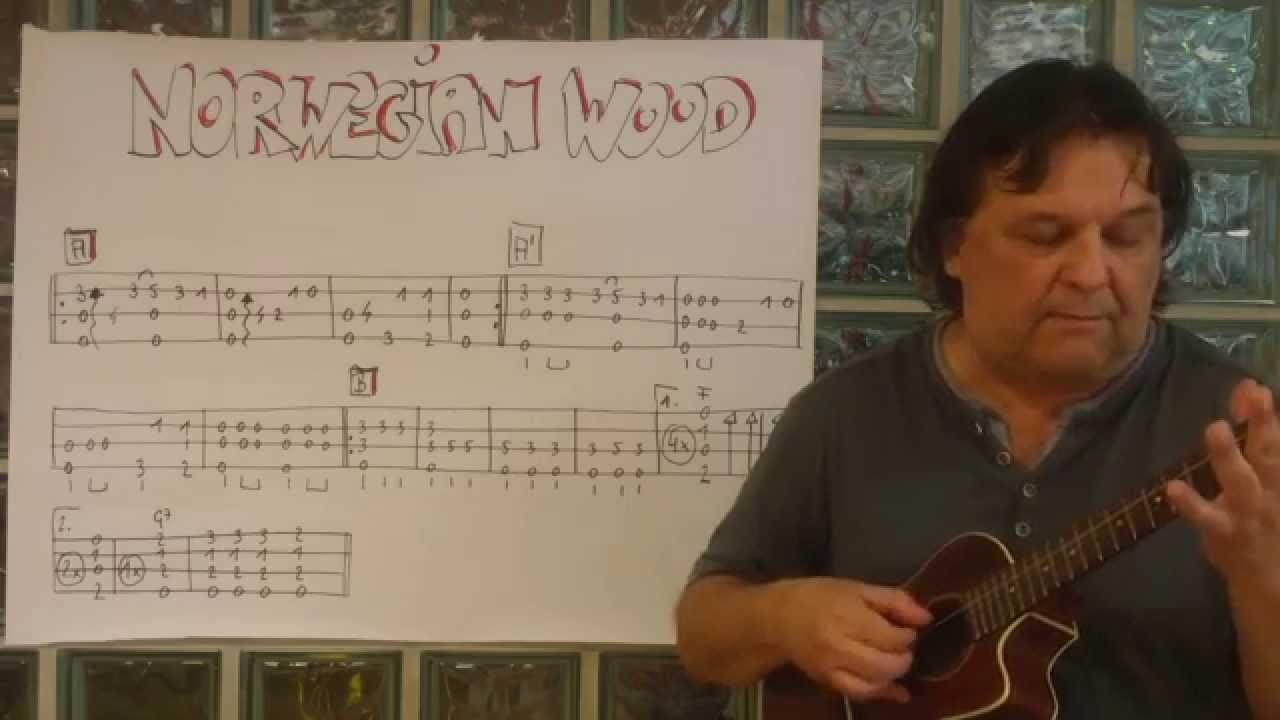 Fingerstyle Ukulele Lesson 8 Norwegian Wood The Beatles Chords