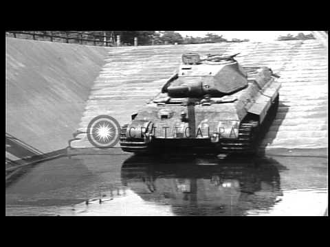 Royal Tiger Tank at the Henschel tank testing grounds, Haustenbeck, Germany HD Stock Footage