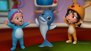Baby Shark! Doo doo doo doo doo doo! - Baby Emotions | Kids Rhymes & Songs | Infobells