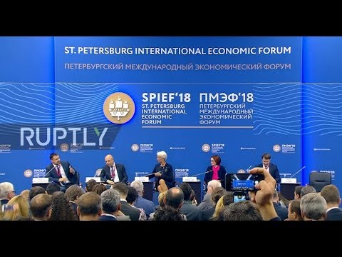 Russia: 'Global economy is at point we haven't seen for past 10 years' - Lagarde at SPIEF