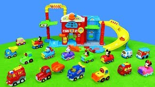 Color Cars & Toys Unboxing for Kids: Trucks, Excavator and TuT TuT Baby Vehicles
