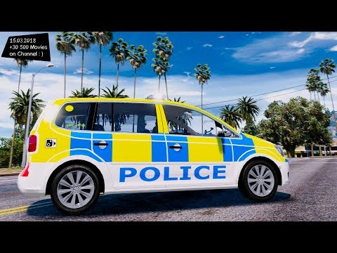 British Police VW Touran ANPR + Dog Unit ELS 1.00 Grand Theft Auto V MGVA Modification
