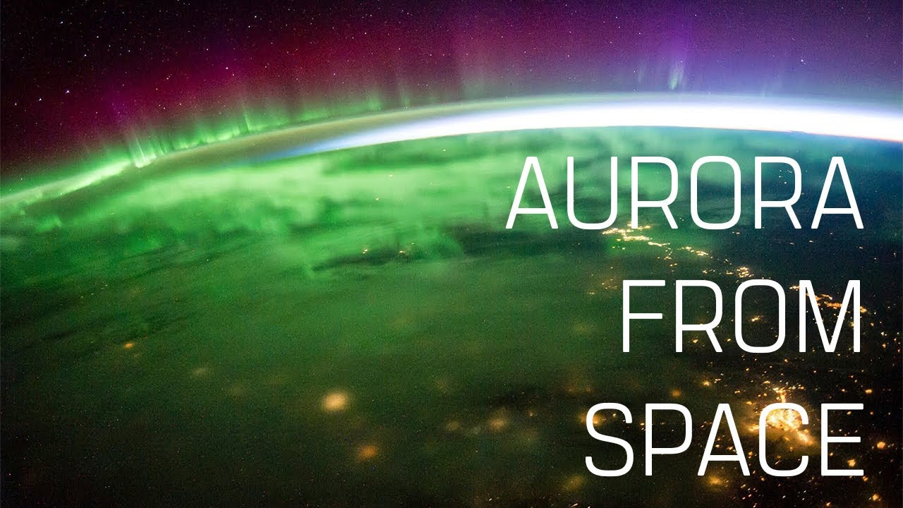 What does the aurora look like from space?