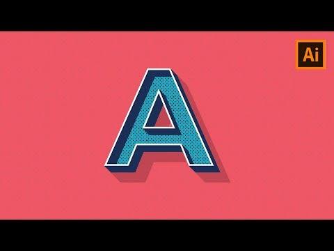 Create An Editable Popular Retro Text Style In Adobe Illustrator I Remuri - Refi MR