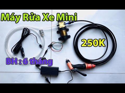 máy rửa xe mini 250K - máy bơm tăng áp rửa xe , tưới cây , xịt thuốc - BH 6 tháng