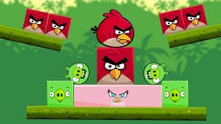 Angry Birds Kick Piggies - KICK ALL SQUARE BIRDS WITH RECTANGLE STELLA!