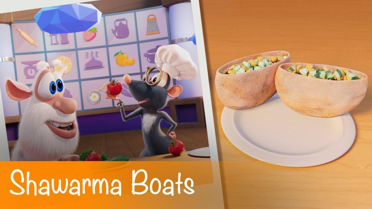 Booba - Food Puzzle: Shawarma Boats - Episode 26 - Cartoon for kids