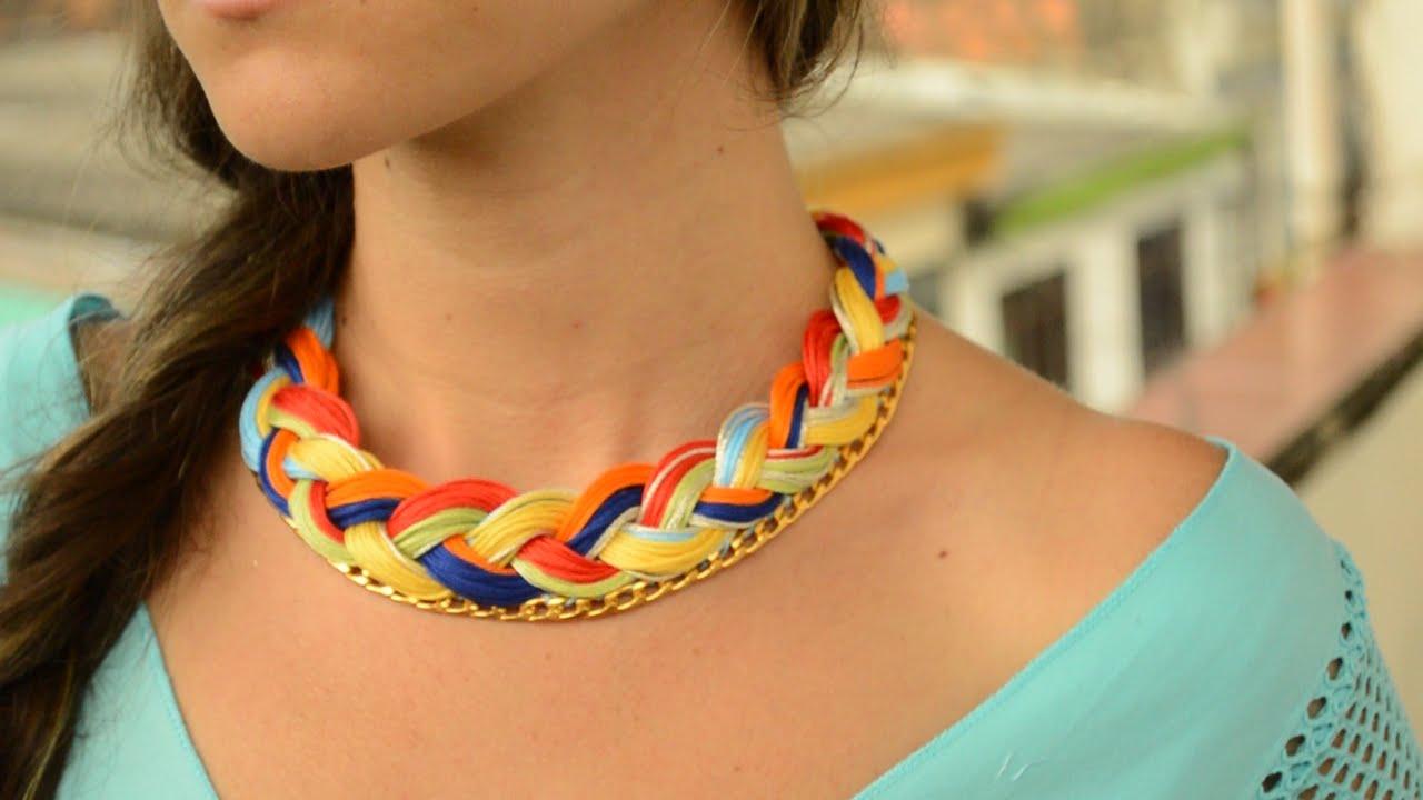 Tutorial collares tejidos con cadenas