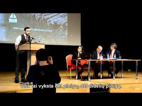 """""""Miškų reforma Estijoje"""" Indrek Vainu pranešimas"""