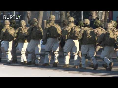 Winter march: US troops conclude NATO drill in Latvia