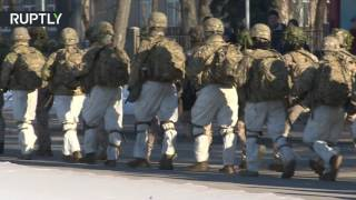 Winter march  US troops conclude NATO drill in Latvia