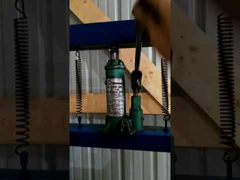 DIY mini hydraulic shop press 2 ton